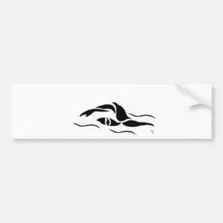 Front Crawl Swimmer Bumper Sticker