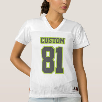 Front DARK GREY LIME GREEN WHITE Womens Jersey