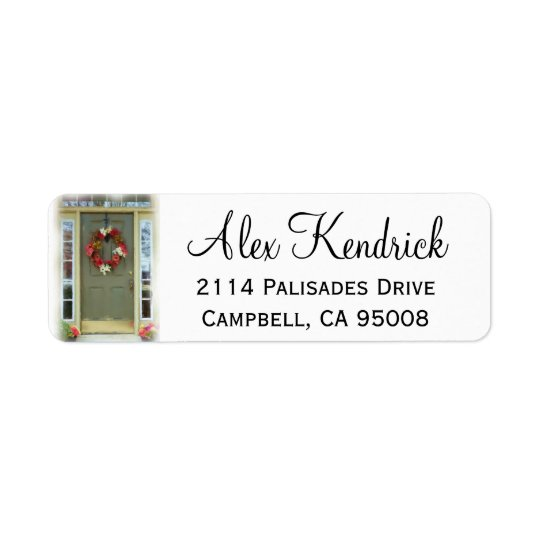 Front Door Address Label