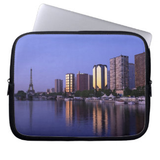 Front du Seine and Eiffel Tower, Paris, France Laptop Sleeve