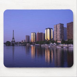 Front du Seine and Eiffel Tower, Paris, France Mousepad