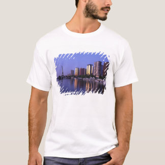 Front du Seine and Eiffel Tower, Paris, France T-Shirt