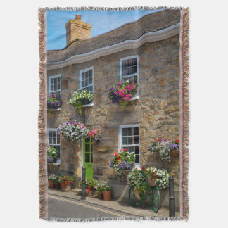 Front entrance to Smugglers Bed and Breakfast Throw Blanket