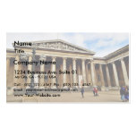 Front Entrance To The British Museum In London Eng Business Card Templates