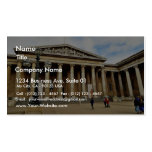 Front Entrance To The British Museum In London Eng Business Card
