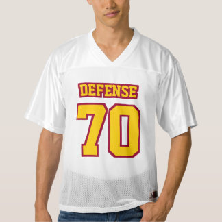 Front GOLDEN YELLOW MAROON WHITE Mens Sport Jersey
