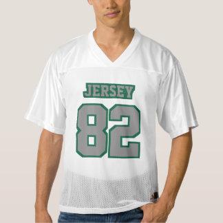 Front GREY DARK GREEN WHITE Mens Football Jersey