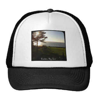 Front lawn at Esalen, Big Sur Mesh Hat