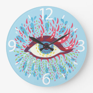 Front Looking Abstract Psychedelic Eye Large Clock