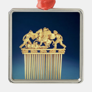 Front of a Scythian comb Christmas Ornament