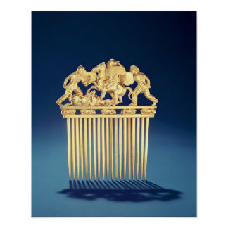 Front of a Scythian comb Poster