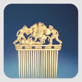 Front of a Scythian comb Square Sticker