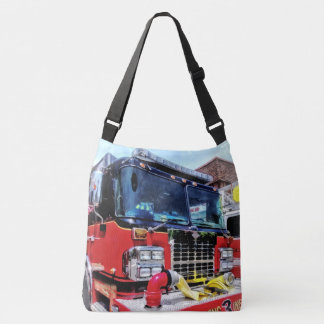Front of Fire Truck With Hose Tote Bag