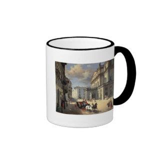 Front of La Scala Theatre, 1852 Ringer Mug