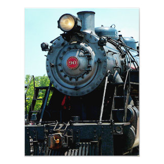 Front of Steam Locomotive Card