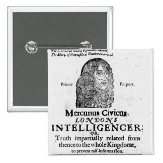 Front page from 'Mercurius Civicus' Pinback Buttons