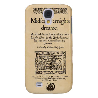 Front Piece to A Midsummer Nights Dream Quarto Samsung Galaxy S4 Cases