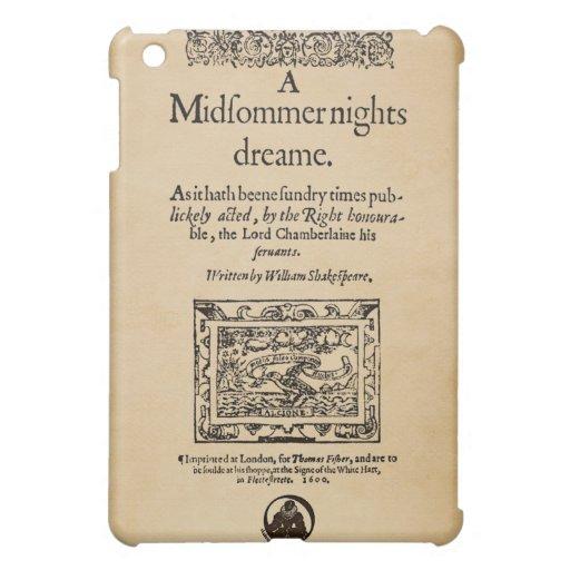 Front Piece to A Midsummer Nights Dream Quarto iPad Mini Cover