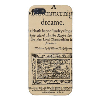 Front Piece to A Midsummer Nights Dream Quarto iPhone 5 Covers