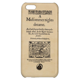 Front Piece to A Midsummer Nights Dream Quarto Case For iPhone 5C