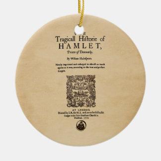 Front Piece to Hamlet Quarto (1605 version) Christmas Ornament