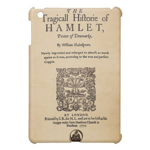 Front Piece to Hamlet Quarto (1605 version) iPad Mini Cases