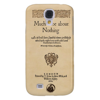 Front Piece to Much Ado About Nothing Quarto Samsung Galaxy S4 Cases