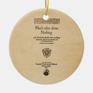 Front Piece to Much Ado About Nothing Quarto Christmas Ornament