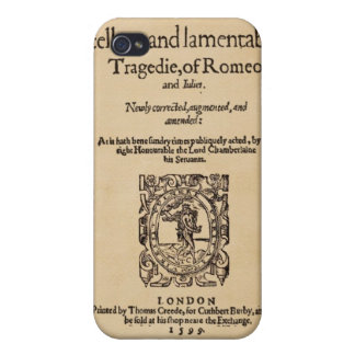 Front Piece to Romeo & Juliet Quarto (1599) Cover For iPhone 4