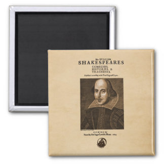 Front Piece to Shakespeare s First Folio Refrigerator Magnets