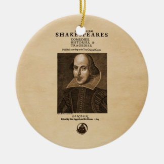 Front Piece to Shakespeare's First Folio Christmas Ornament