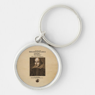 Front Piece to Shakespeare's First Folio Keychains