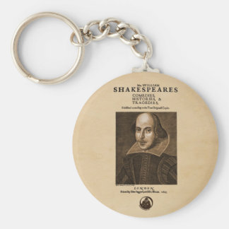 Front Piece to Shakespeare's First Folio Key Chain