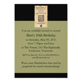 Front Piece to the Hamlet Quarto (1605 version) Personalized Invite