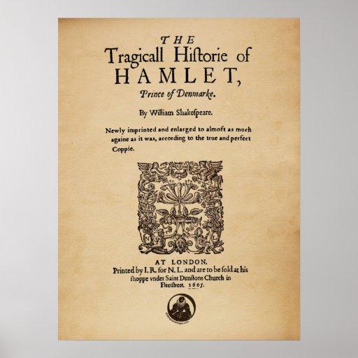 Front Piece to the Hamlet Quarto (1605 version) Print
