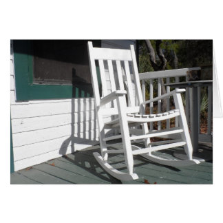 Front Porch Rocking Chair Note Card