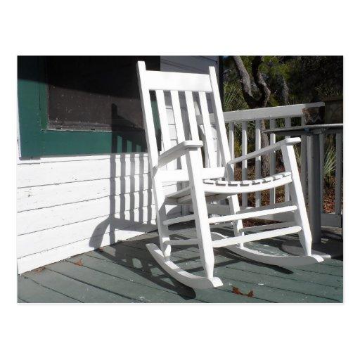 Front Porch Rocking Chair Postcard