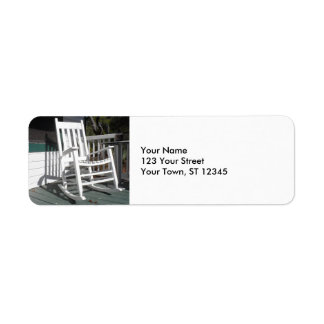 Front Porch Rocking Chair Return Address Label