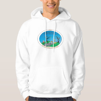 Front Print Autumn Run Hooded Sweatshirt