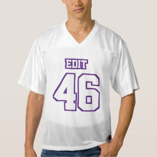 Front PURPLE WHITE Mens Football Jersey