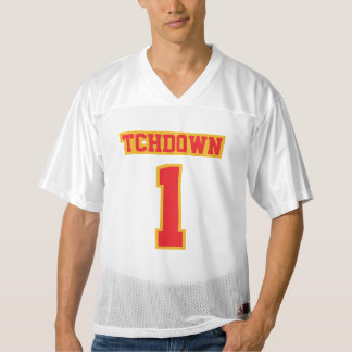 Front RED GOLD WHITE Mens Football Jersey