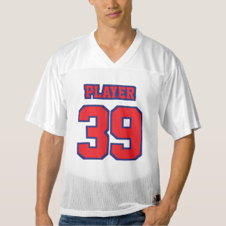 Front RED NAVY BLUE WHITE Mens Football Jersey