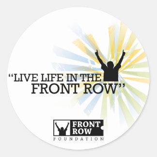 Front Row Foundation: Sunburst Classic Round Sticker
