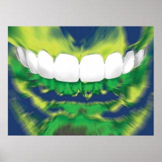 Front Teeth Design Dentist Orthodontist Poster