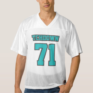 Front TURQUOISE DARK GREY WHITE Mens Sports Jersey