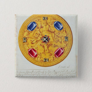 Front view of a pectoral ornament 15 cm square badge