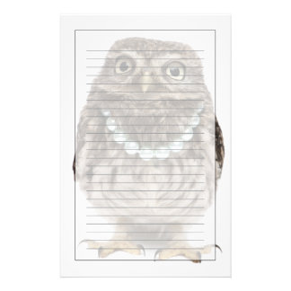 Front view of a Young Little Owl Stationery