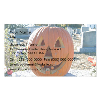 Front view of Carved Pumpkin Pack Of Standard Business Cards