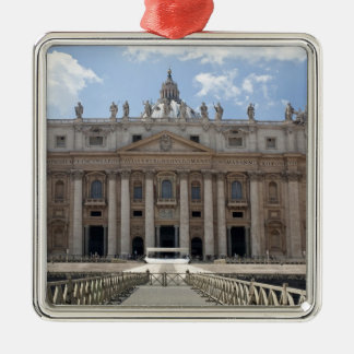 Front view of St. Peter's Basilica, Vatican. Christmas Ornament