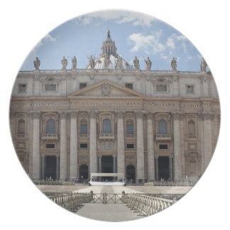 Front view of St. Peter's Basilica, Vatican. Plate